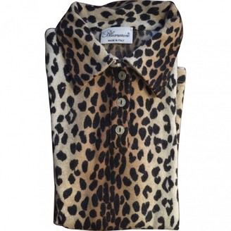 Blumarine Beige Wool Top for Women
