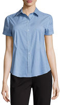 Liz Claiborne Short-Sleeve Button-Front Shirt