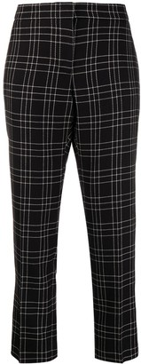 Alexander McQueen Checked Cropped Trousers
