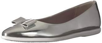 Cole Haan Women's Zerogrand Bow Skimmer Ballet Flat ch Argento Metallic Leather 7 B US