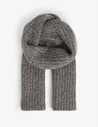 Johnstons Donegal ribbed cashmere scarf