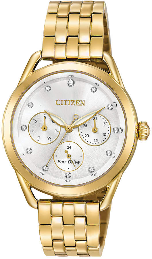 Citizen Drive from Eco-Drive Women's Gold-Tone Stainless Steel Bracelet Watch 38mm