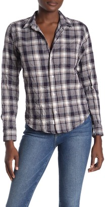 Frank And Eileen Barry Signature Crinkle Plaid Print Shirt