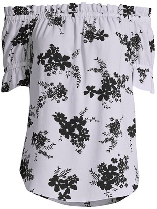 MICHAEL Michael Kors Off-The-Shoulder Floral Top