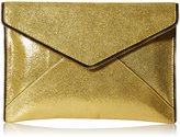 Rebecca Minkoff Crackle Leather Leo Envelope Clutch