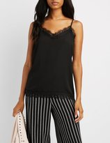 Charlotte Russe Lace-Trim Camisole Top
