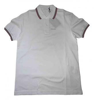 Prada White Cotton Polo shirts