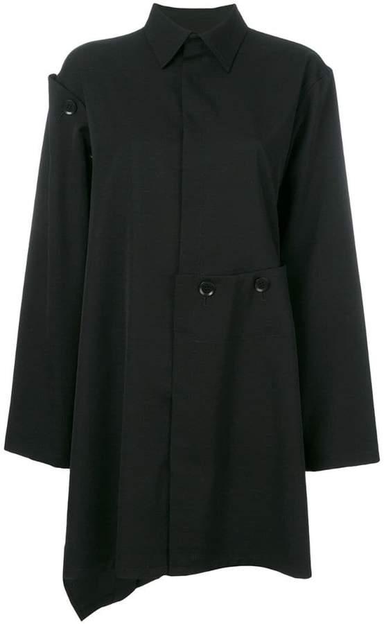 Yohji Yamamoto asymmetric high low shirt