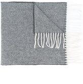 Woolrich fringed scarf