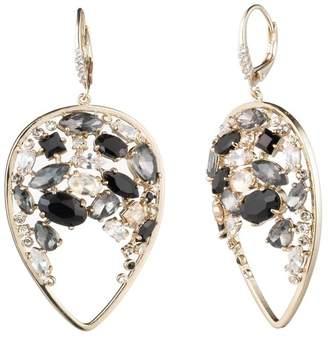 Carolee Rhinestone CZ Teardrop Cluster Drop Earrings