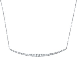Lab Grown Diamond Smile Necklace, 5/8 Ctw 14K Solid Gold by Smiling Rocks