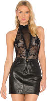 h:ours High Neck Lace Bodysuit