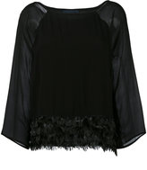 Class Roberto Cavalli feathers trim blouse - women - Viscose - 42