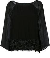 Class Roberto Cavalli feathers trim blouse