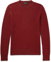 A.p.c. - Ribbed Wool-blend Sweater