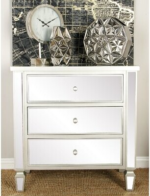 Cole & Grey 3 Drawer Accent Chest Cole & Grey