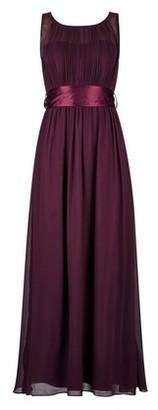 Dorothy Perkins Womens Showcase Petite Bridesmaid Oxblood 'Natalie' Maxi Dress