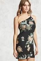 Forever 21 Floral One-Shoulder Dress