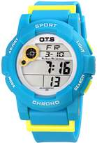 OTS O.T.S Fashion Waterproof Girls Digital Sport Watch with Colorful Night Light,Alarm Chronograph and Date