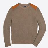 J.Crew Factory Shoulder-patch cotton crewneck sweater