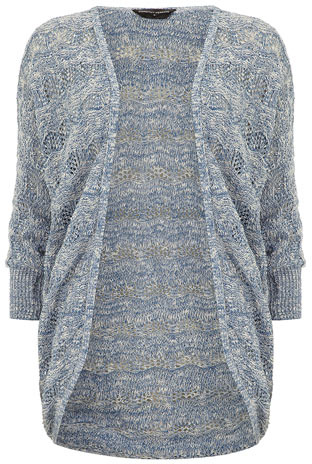 Dorothy Perkins Blue wave stitch cardigan