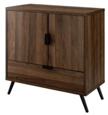 "Walker Edison 30"" 2 Door, 1 Drawer Accent Cabinet"