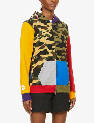 BAPE Camo Shark graphic-print cotton-jersey hoody