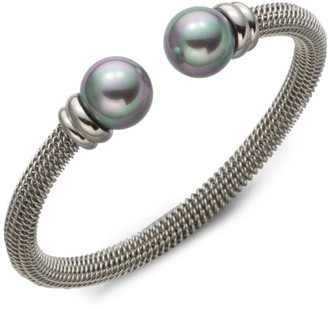 Majorica 12MM Grey Round Pearl Tipped Bracelet