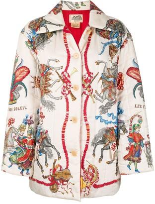 Hermes Single-Breasted Long Sleeve Jacket Coat