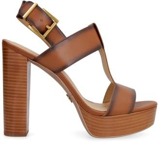 MICHAEL Michael Kors Becker Heeled Leather Sandals