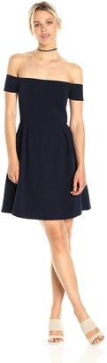 Paris Sunday Women's Off Shoulder Fit and Flare Dress
