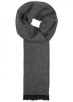 BOSS Maroso Striped Wool Scarf