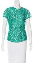 Nina Ricci Short Sleeve Lace Top