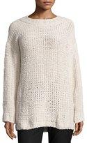 Nic+Zoe Amped Up Oversized Sweater, Beige