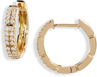 Bony Levy Katherine Pave Diamond Hoop Earrings