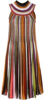 Missoni pleated funnel neck dress