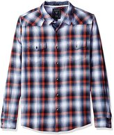 GUESS Men's Jordan Plaid Western Shirt