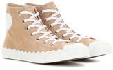 Chloé Kyle suede high-top sneakers