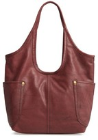 Frye Campus Rivet Leather Shoulder Bag - Brown