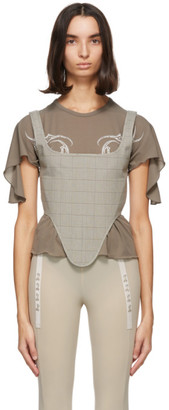 Charlotte Knowles Grey Check Bone Corset