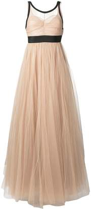 No.21 sheer tulle evening dress