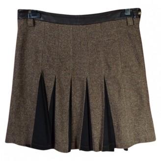 Dolce & Gabbana Brown Wool Skirt for Women Vintage