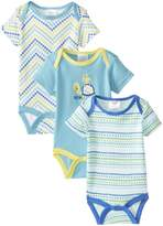 Baby Gear BabyGear Baby-Boys Newborn Boys 3 Pack Bodysuits On Hanger-Little Friends