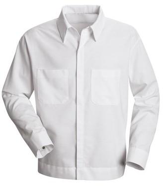 Red Kap Men's Long Sleeve Button-Front Shirt Jacket
