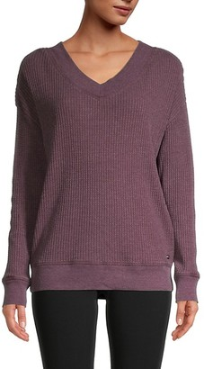 Andrew Marc Waffle-Knit Sweater