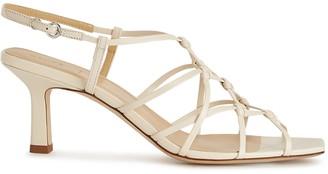AEYDĒ Celia 75 cream leather sandals