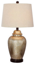 Fangio Lighting Mercury Glass and Metal Table Lamp, Oil Rubbed Bronze, Antique Brown