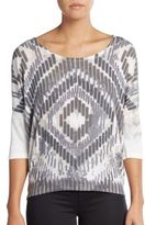 Bobeau Printed Dolman Top