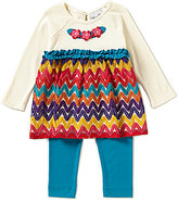 Rare Editions Baby Girls 12-24 Months Chevron Dress & Leggings Set