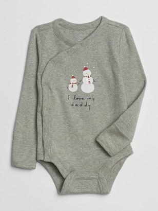 Gap Baby Holiday Kimono Bodysuit
